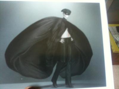 McQueen black silk coat