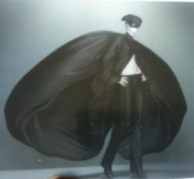 McQueen black silk coat275