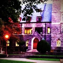 Gothic stone school building